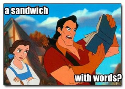 sandwich with words